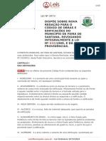 CÓDIGO DE OBRAS E EDIFICAÇÕES DO MUNICÍPIO DE FEIRA DE SANTANA - Lei ordinaria 3473-2014-Feira-de-santana-BA