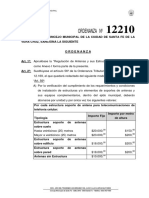 Ordenanza 12210