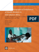 Reducing Geographical Imbalances of Health Workers in Sub-Saharan Africa