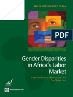 Gender Disparities in Africa's Labor Market
