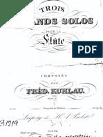 Op. 57   Trois grands Solos pour la Flute.
