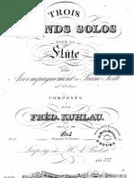 Op. 57 nº2-3   Trois grands Solos pour la Flute avec accompagnement de Piano-Forte ad libitum. (No. 2-3)