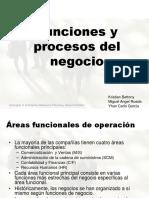 Funciones, Procesos y Requerimientos Del Negocio