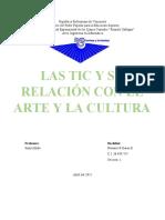 Las Tic y Su Relación Con El Arte y La Cultura