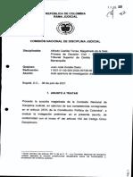 La decisión de la Comisión Nacional de Disciplina Judicial