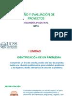 DISEÑO Y EVALUACIÓN DE PROYECTOS