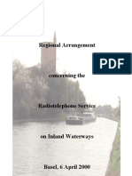 Agreement governing Radio Telephone Service on European Inland Waterways