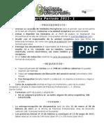 Convocatoria Prácticas Profesionales 2011-01
