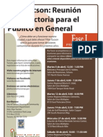 Plan Tucson Gen Pub Intro Mtgs SPANISH Flyer 3-23-11
