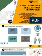 Biotecnológicos en la artritis reumatoide
