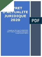 Livret d'Actualité Juridique 2020