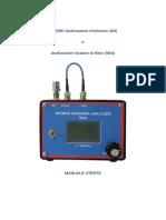 IW2NDH Analizzatore d'Antenna (an) Analizzatore Scalare Di Rete (SNA) MANUALE UTENTE