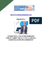 """Entrevista con Yuri Morejón por su libro """"de tú a tú, la buena comunicación de gobierno"""""""