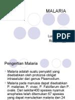 Epidemiologi Malaria