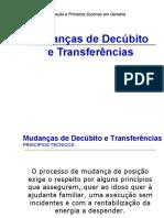 9. Mudanças de Decúbito e Transferências