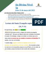 LECTIO DIVINA MARTES 11 DE MAYO - SAYD