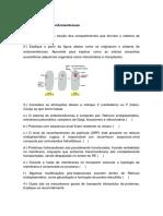 Estudo dirigido aula 4 endomembranas