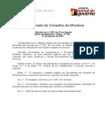 Estatuto Orgânico do Secretariado do Conselho de Ministros