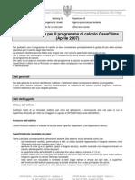 Direttiva tecnica per il programma di calcolo CasaClima (Aprile 2007)