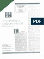 Implantomanía El Dilema (1999) Dr. ZERÓN