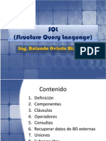 SQL Ing. Rolando Oviedo