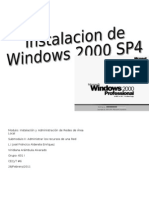 Pasos para la instalación de Windows 2000 Professiona1