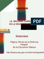 Reforma Curricular de Ed. Basica