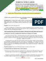 Licão de Célula - CULTURA DA IGREJA NOS LARES - 279