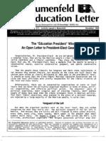 The Blumenfeld Education Letter