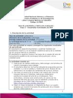 Guía de actividades y rúbrica de evaluación - Unidad 3 - paso 3 - Desarrollar Actividades de OVA