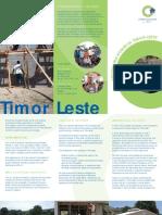 CHL Timor Leste Brochure