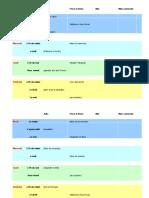 Acitivités et horaires - information gap FLE