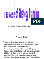 Case-coolex Case of Strategy Planning