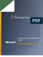 Exchange Server 2010 (Beta) - Student Manual