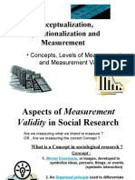 2 Conceptualizatoin operationalization levels of measurement