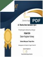e-sertif kulwap maret