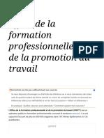 Office de la formation professionnelle et de la promotion du travail — Wikipédia