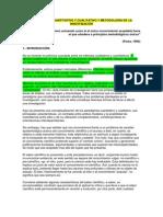 PARADIGMAS CUANTITATIVO Y CUALITATIVO Y METODOLOGÍA DE LA INVESTIGACIÓN