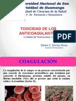 Toxicidad de Los Anticoagulante