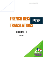 French+Recap+Translations+ +Course+1+ +Lesson+2