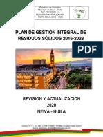Plan de Gestión Integral de Residuos Solidos - PGIRS Neiva