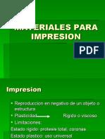 MATERIALES PARA IMPRESION