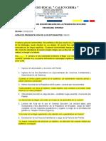 ACTO SOLEMNE DE INCORPORACIÓN DE LA PROMOCIÓN 2019 CALICUCHIMA