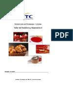 Recetario Taller de Pasteleria y Reposteria II