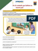 COM- EXPONEMOS SOBRE LOS ANIMALES DEL PERU- 13 de julio
