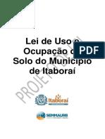 Uso e Ocupação do Solo do Município de Itaboraí