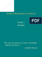 Sampling - MBA -B -Section