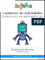 MA0022 Divisiones Dos Cifras Exacto Edufichas