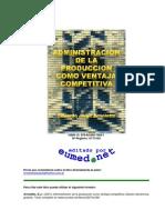 Administración de la producción como ventaja competitiva