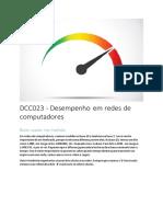 DCC023 - Desempenho em redes de computadores